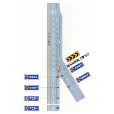 高速公路入口加速車道施工