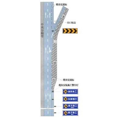 高速公路出口減速車道施工