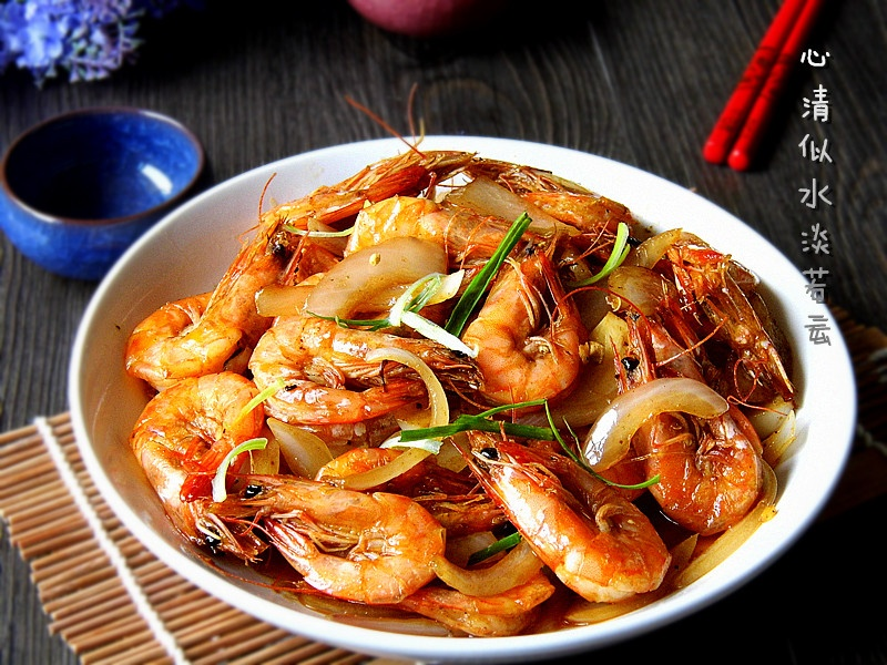营养全面的滋补菜肴----洋葱爆炒虾 - 慢美食 - 慢 美 食