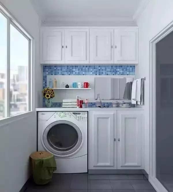 阳台洗衣机储物柜装修效果图