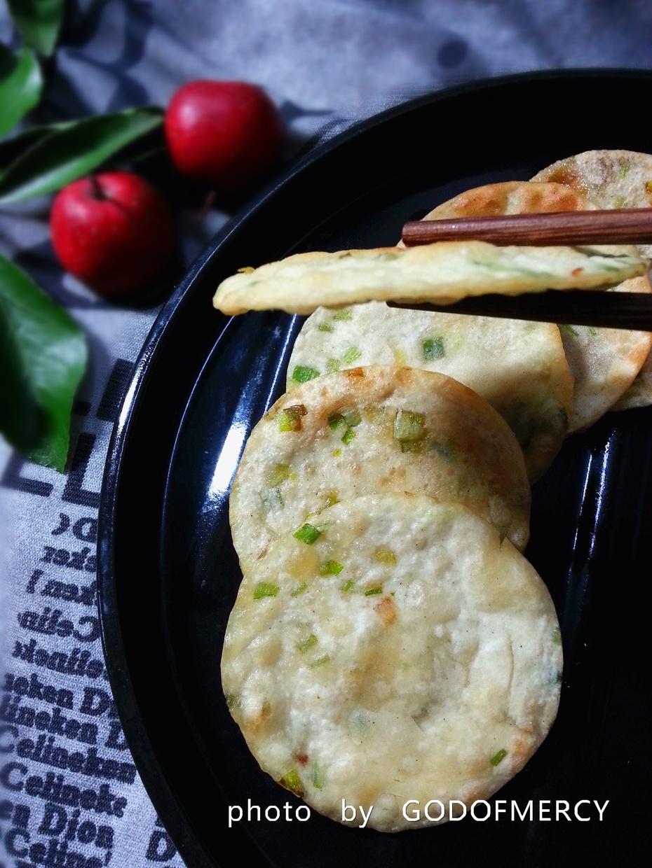 """中国式的""""比萨饼--特色小吃的境界香酥葱油薄饼 - 荷塘秀色 - 茶之韵"""