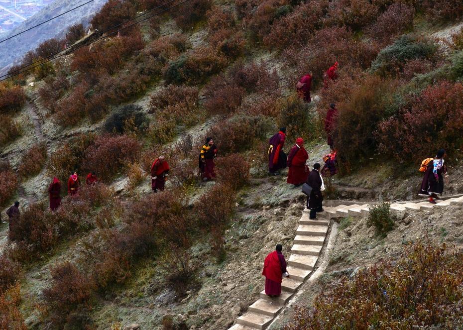 色达佛学院的红衣喇嘛 - 海军航空兵 - 海军航空兵