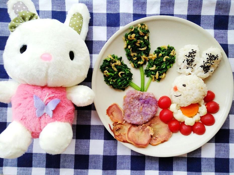 小白兔拔萝卜的做法及图文的做法