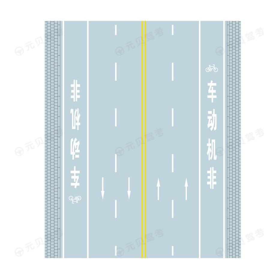 非机动车道线