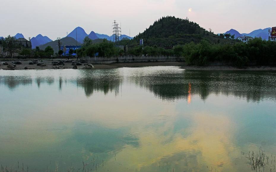 黄果树小池看落日,陡坡塘瀑布映晨曦--黔南游二十三 - 侠义客 - 伊大成 的博客