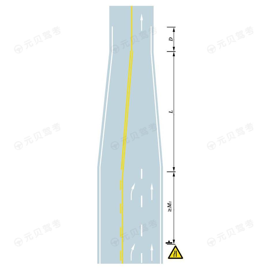 三车道缩减为双车道