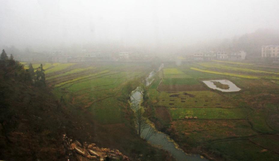雨雾朦胧黔南路;深峡高桥油菜花 —早春云贵游之十七 - 侠义客 - 伊大成 的博客