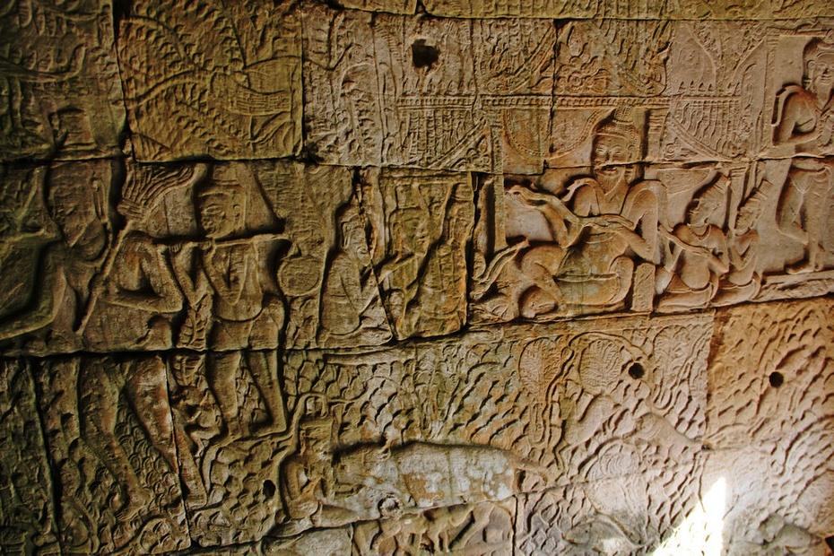 通王城内巴戎庙,高棉微笑越千年-游奇迹吴哥窟之三 - 侠义客 - 伊大成 的博客