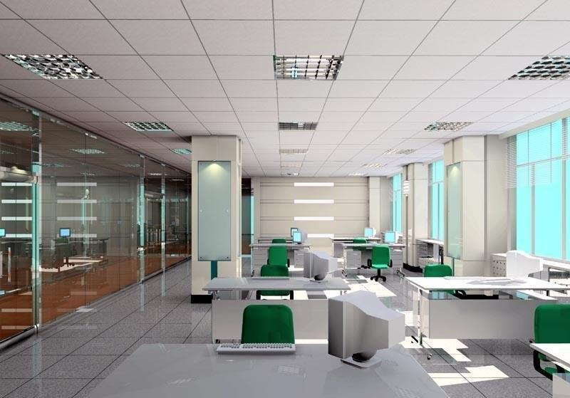 办公室装修中吊顶天花的应用方法