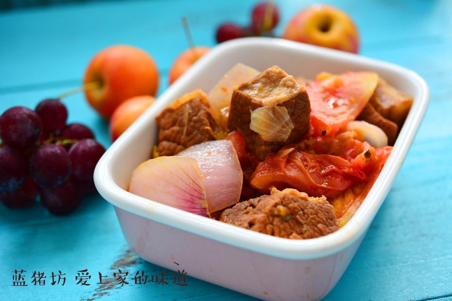 番茄牛肉的新做法,这样做才对胃! - 蓝冰滢 - 蓝猪坊 创意美食工作室
