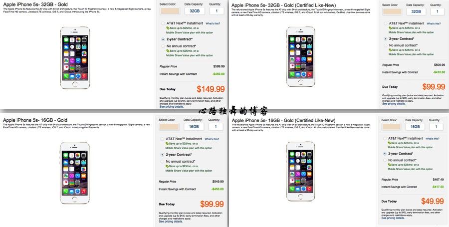 有图有数据:苹果翻新机的价格真的超低吗? - 心路独舞 - 心路独舞