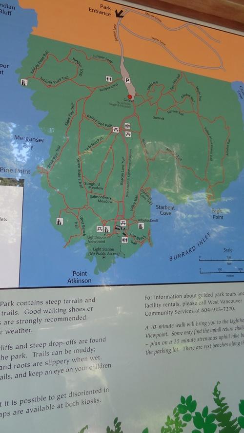 湖边到灯塔公园地图