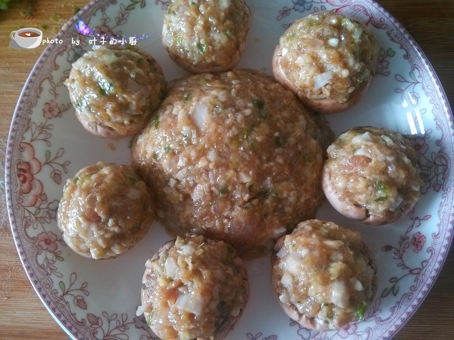 【秋季进补】---肉末蒸口蘑 - 叶子 - 叶子的小厨