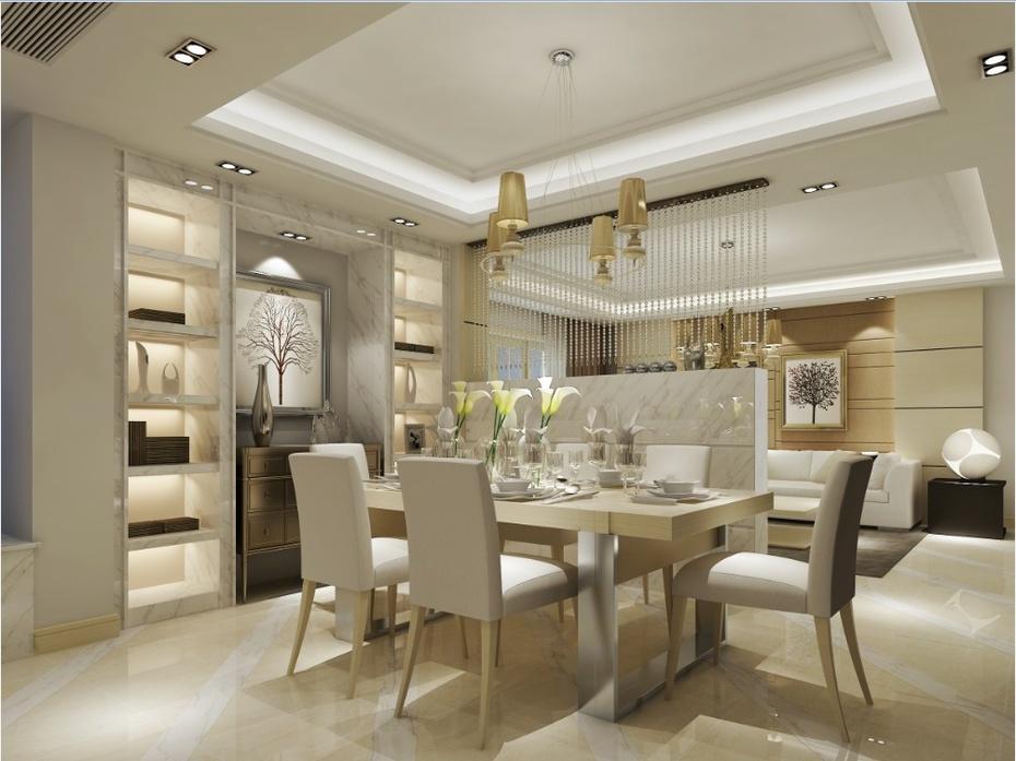 长沙实创装饰 华润凤凰城127平 欧式风格3室2卫 装修效果图