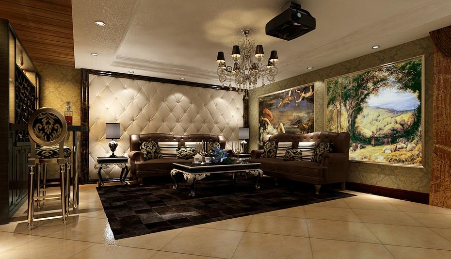奢华欧式别墅装修设计效果图-上海实创装饰 228平别墅设计,生活就是高清图片