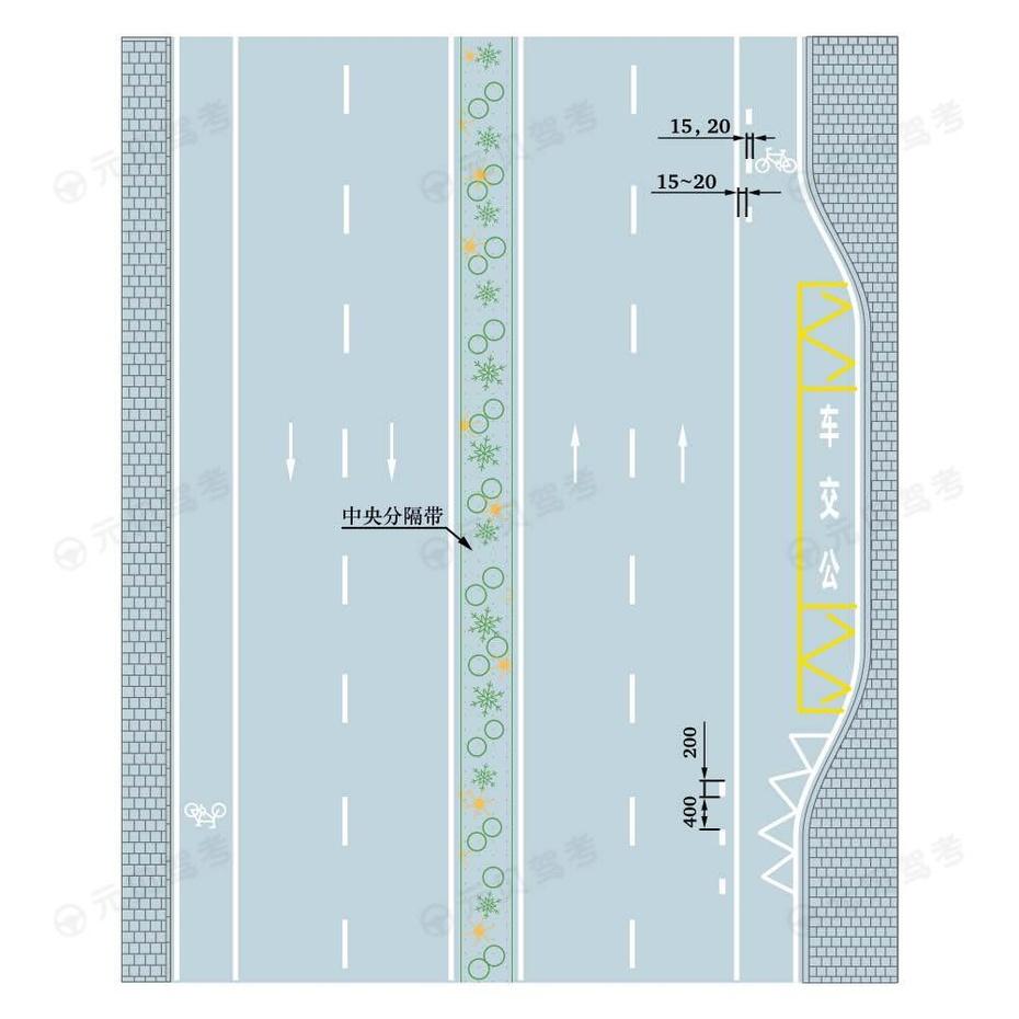 车行道边缘白色虚实线