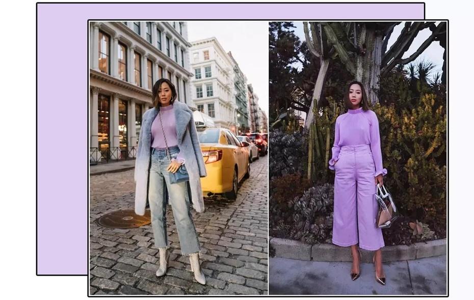 搭配经 | 电光紫太难穿,薰衣草紫了解一下 - toni雌和尚 - toni 雌和尚的时尚经