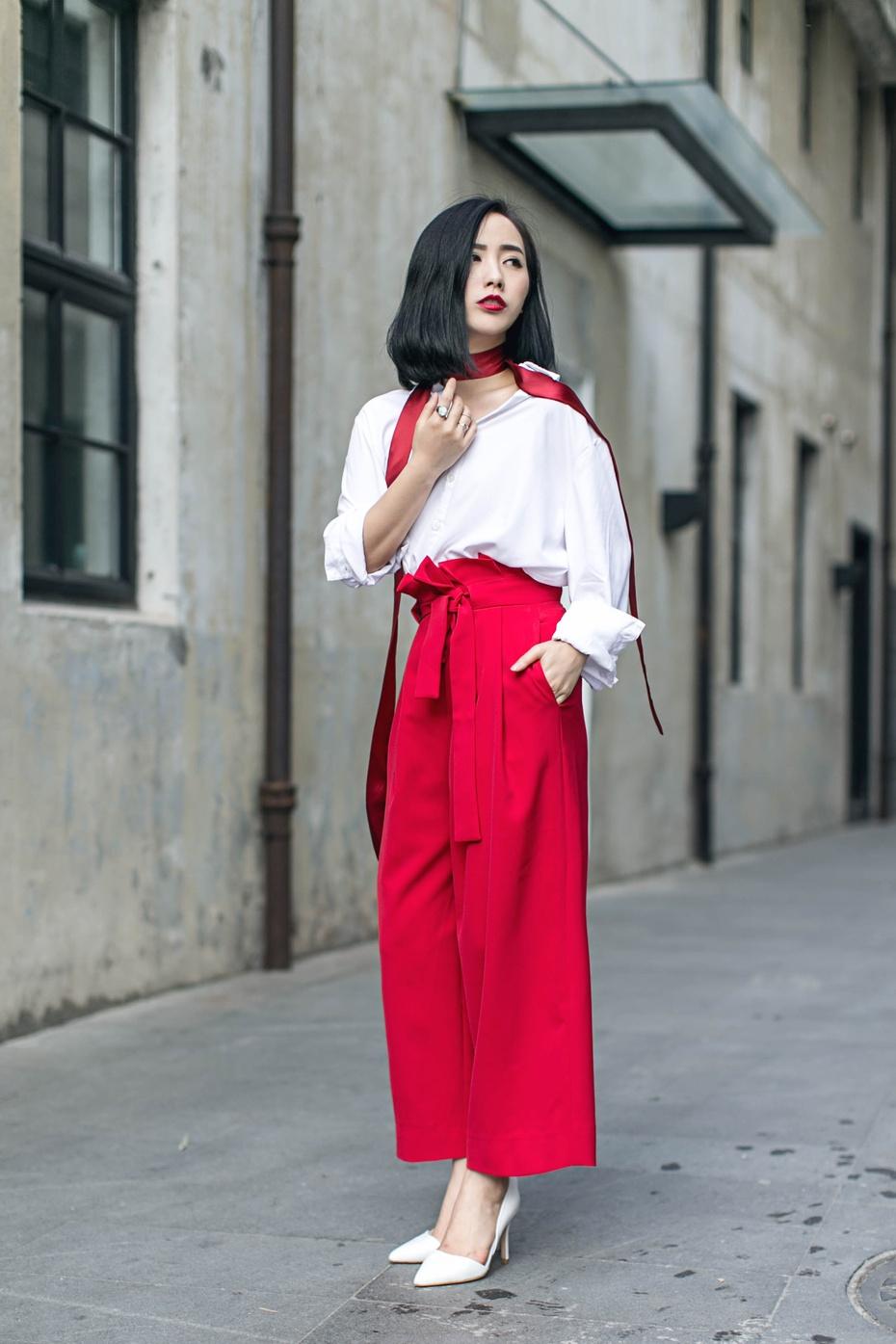 【妮儿の私服日记】就是爱酷感中自带娇俏DE红+白 - Nikki妮儿 - Nikkis Fashion Blog