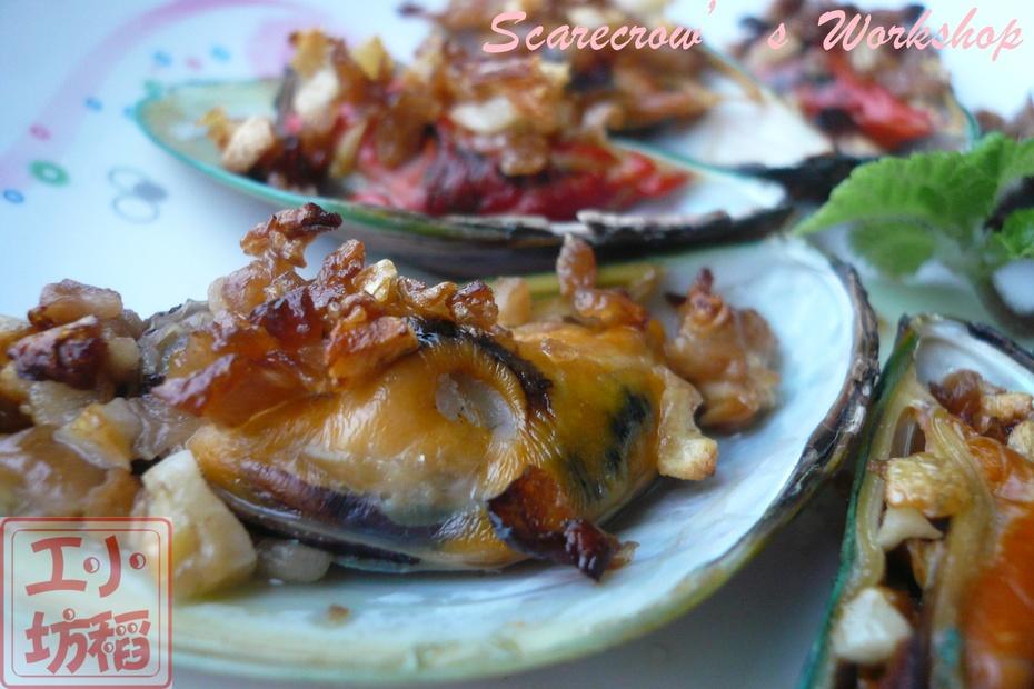 【烤箱菜】蒜香烤淡菜 - 慢美食 - 慢 美 食