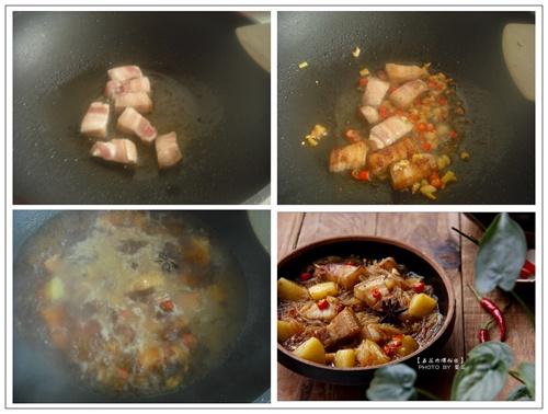 家常【五花肉煨粉丝】举箸方知肥不腻 - 慢美食 - 慢 美 食