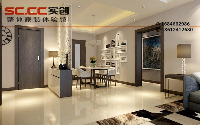 图-现代简约风格装修效果图-餐厅门厅装修设计方案