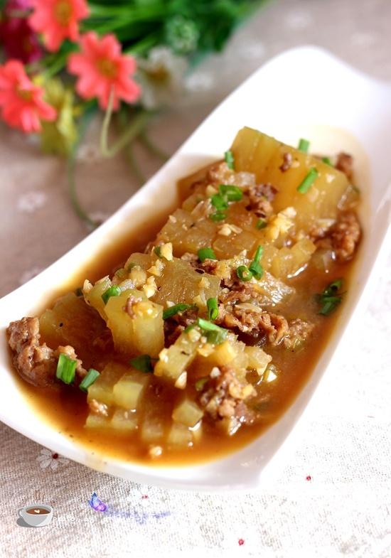 红烧肉末冬瓜 - 叶子的小厨 - 叶子的小厨