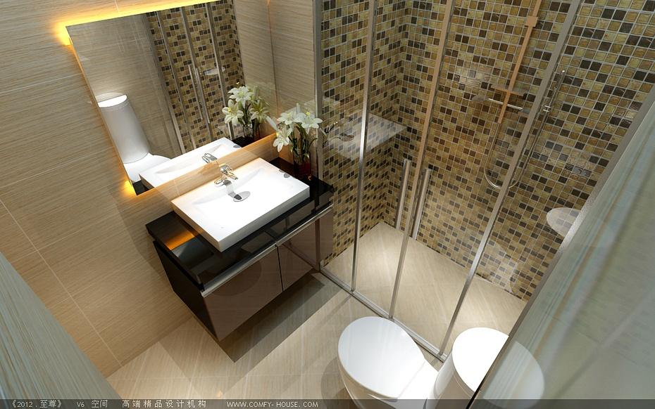 济南实创装饰-一居单身公寓空间设计方案-现代简约风格装修图