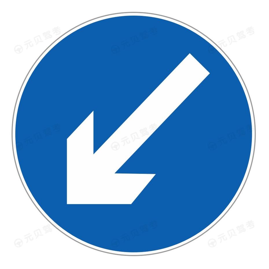 靠左侧道路行驶