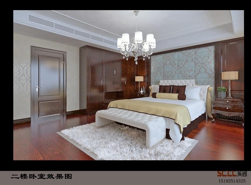 别墅装修设计,世茂意墅湾180平加地下室简中加简欧装修案例 青岛实