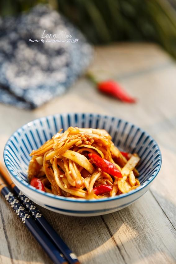 干煸杏鲍菇 --- 香辣的干煸菜最惹味-狼之舞 - 荷塘秀色 - 茶之韵