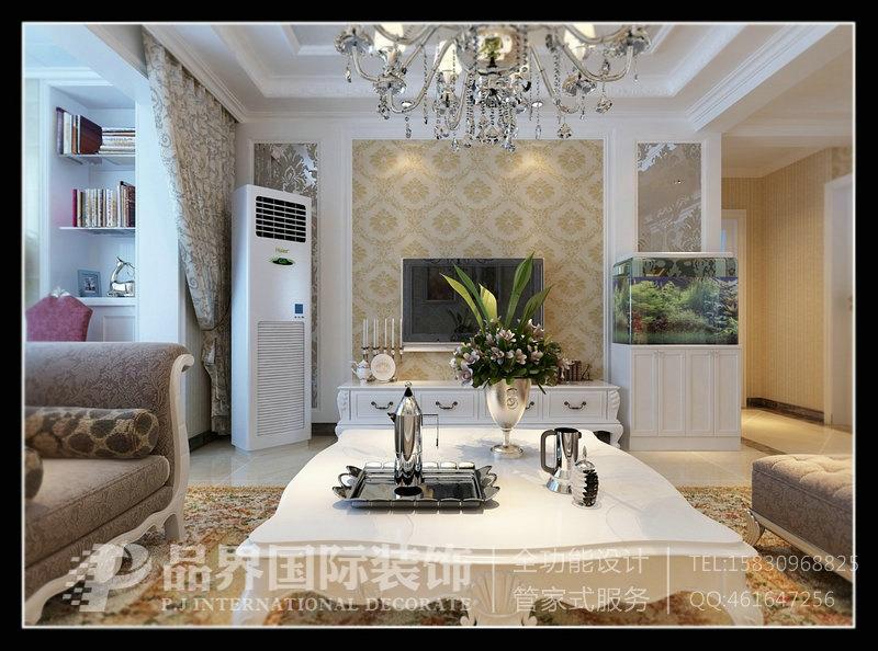 石家庄国赫红珊湾117平米 平面布局方案+设计效果图 - 石家庄品界国际装饰 - 石家庄品界国际装饰
