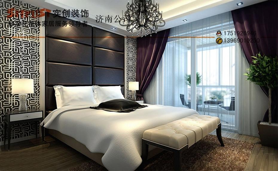 国铁建国际城107平米-简约时尚奢华装修案例效果图-卧室设计