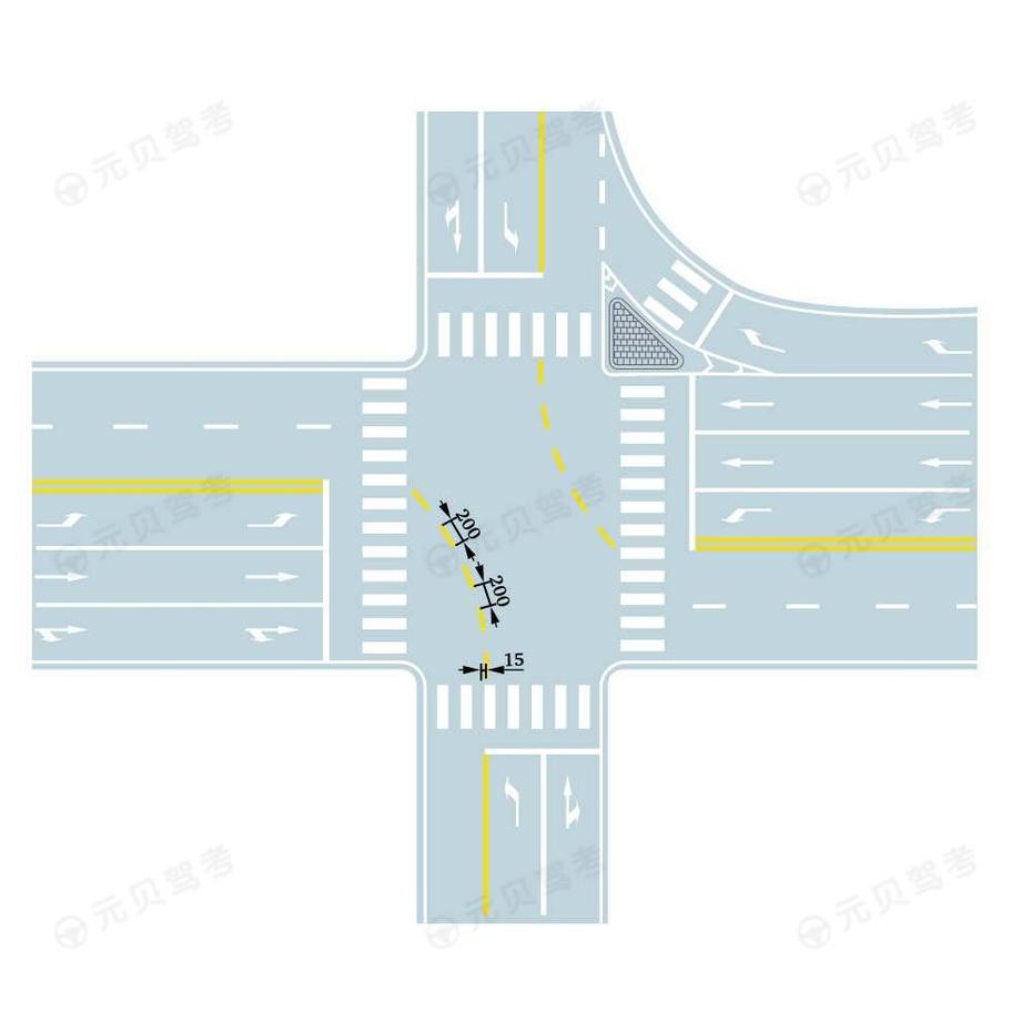 路口导向线1