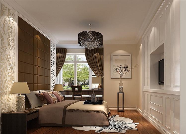 126平简约中式公寓样板间装修设计案例效果图(客厅)高清图片