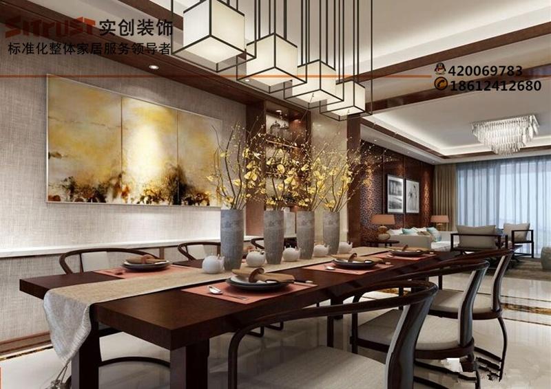 【老房装修】-168平新中式风格装修效果图-北京实创