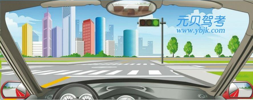 驾驶机动车在路口遇到这种信号灯亮时,不能右转弯。答案是错