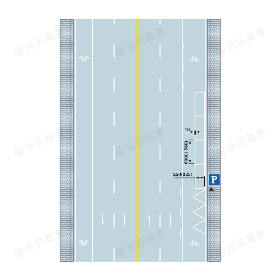平行式停车位标线