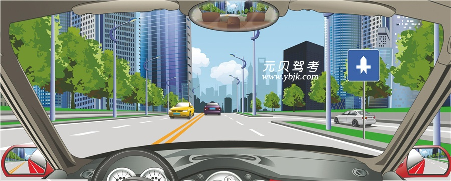 右侧标志表示干路车辆优先通行。答案是对