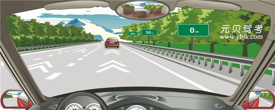 高速公路安全距離確認路段用于確認車速在每小時100公里時的安全距離。答案是對