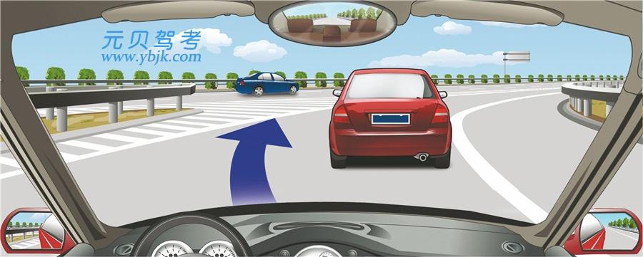 驾驶机动车遇到这种情况可迅速从前车左侧超越。答案是错