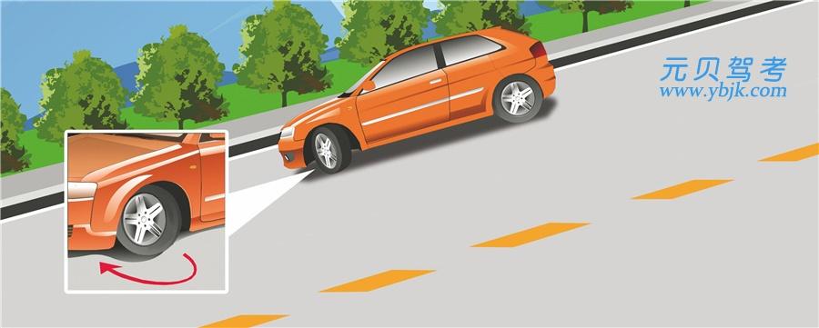 驾驶机动车在这种情况下临时停车后,为避免机动车后溜可将转向盘向右转。答案是对