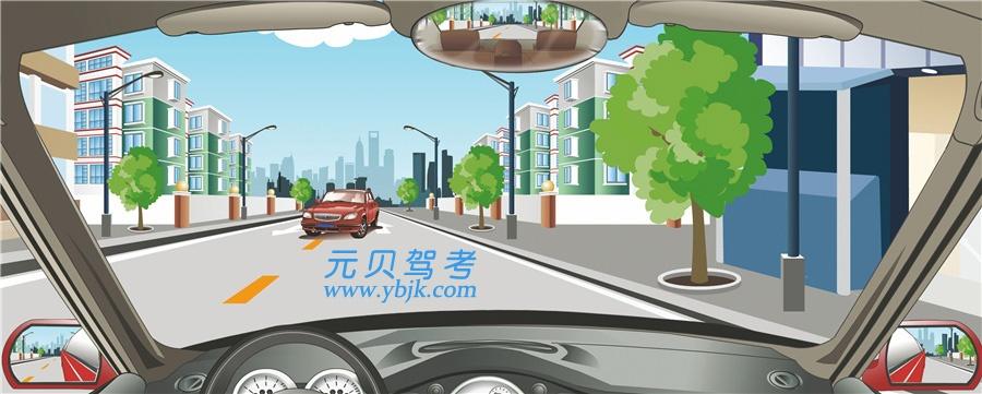 在這種情況下怎樣會車最安全?A、靠中心線行駛B、開前照燈行駛C、向路右側避讓D、向車左側避讓答案是C