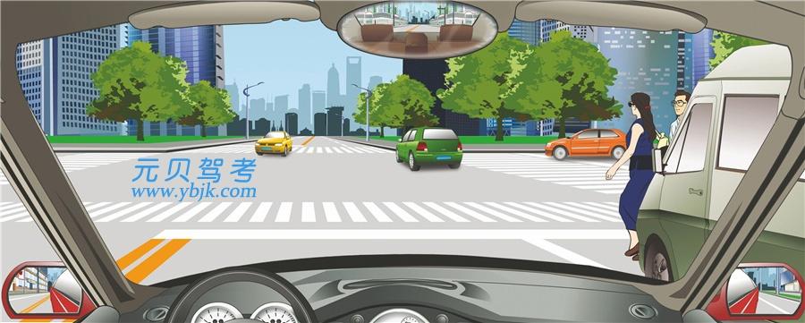 驾驶机动车在人行横道前遇到这种情况一定要减速慢行。答案是错