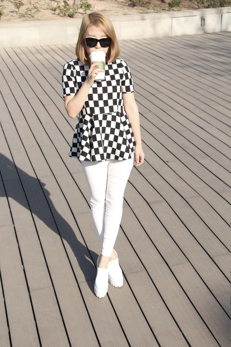 妖精边儿——搭配日记黑白棋格一样可以穿的很好看 - heheweilong - 妖精边儿的博客
