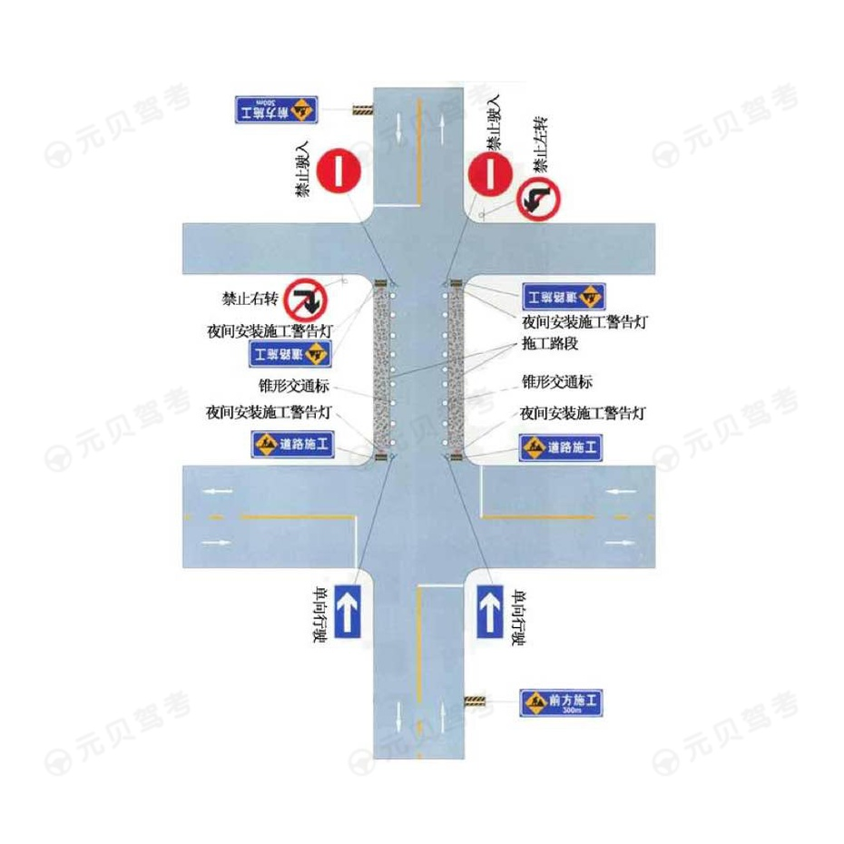 市区道路两侧施工只能单向行驶