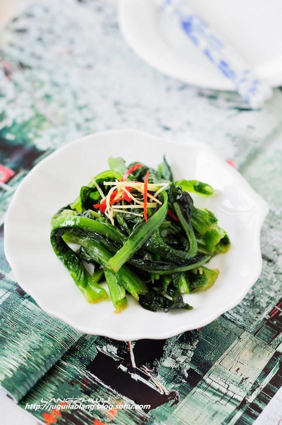 芥辣莴苣叶 ---- 低成本的爽口开胃菜 - 慢美食博客 - 慢美食博客