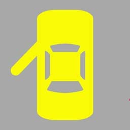 機動車儀表板上(如圖所示)亮,提示右側車門未關閉。答案是錯