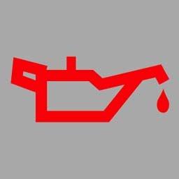 机动车仪表板上(如图所示)亮表示发动机可能机油量不足。