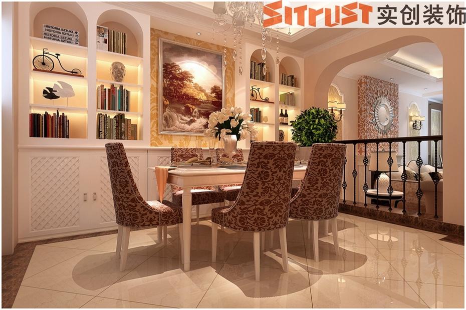 简约欧式风格时尚雅居装修案例效果图-餐厅设计以