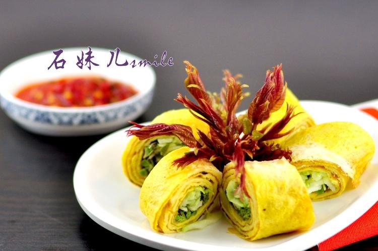 营养美味好吃又好看——香椿蛋卷 - 慢美食 - 慢   美   食
